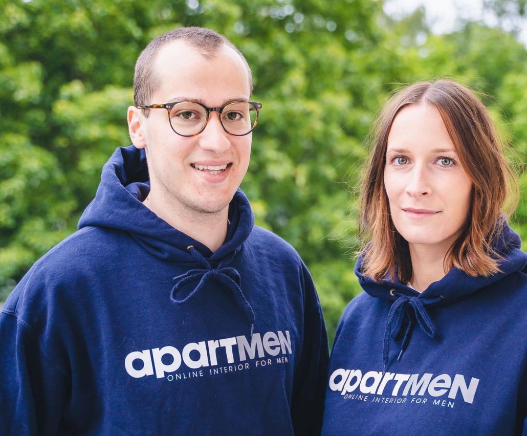 Das Gründerpaar von apartmen: Marc Bartscht und Louisa Verch