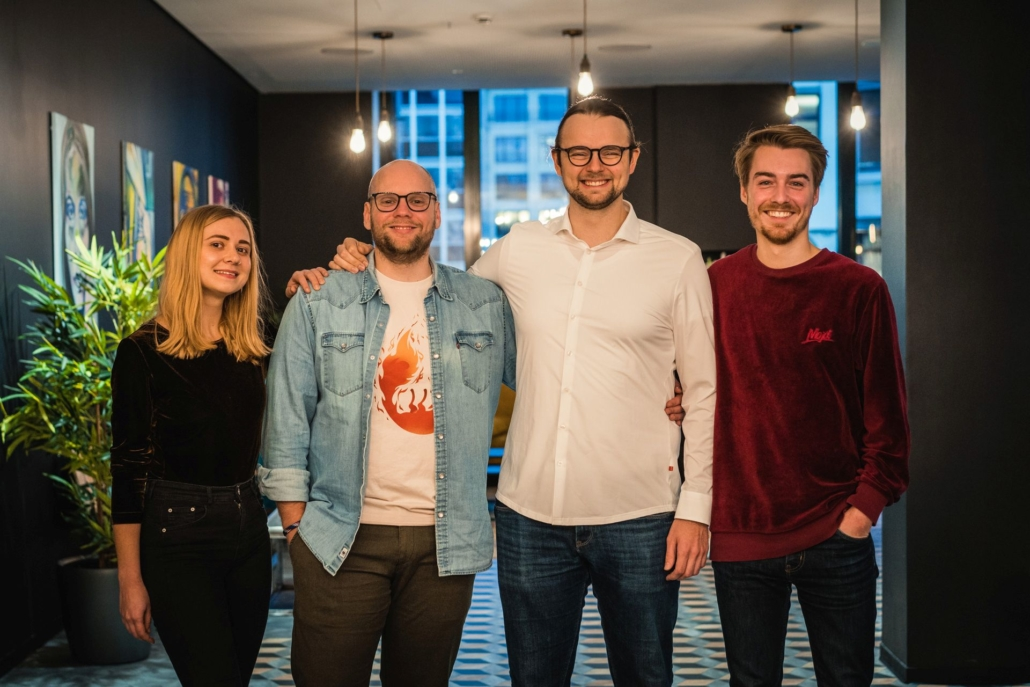 NCA Batch 7: Das Team von LeadEvents mit den Gründern Rene Sulski und Edgar Dyck in der Mitte.