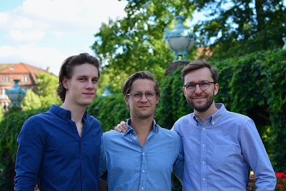 Die drei Gründer von MARA: Ingo Lange, Tobias Roelen-Blasberg und Maximilian Lüders neu im NCA
