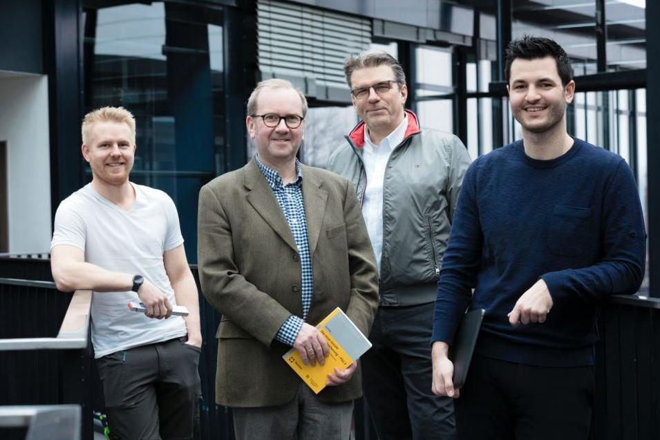 Das Team von besser zuhause: Joscha Langhans, Prof. Ronald Richter, Hans Nolte und Leif Lewinski. (Foto: besser zuhause)
