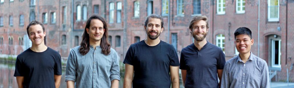 Neu im Hamburg Startups Club: Das Team von Evitado