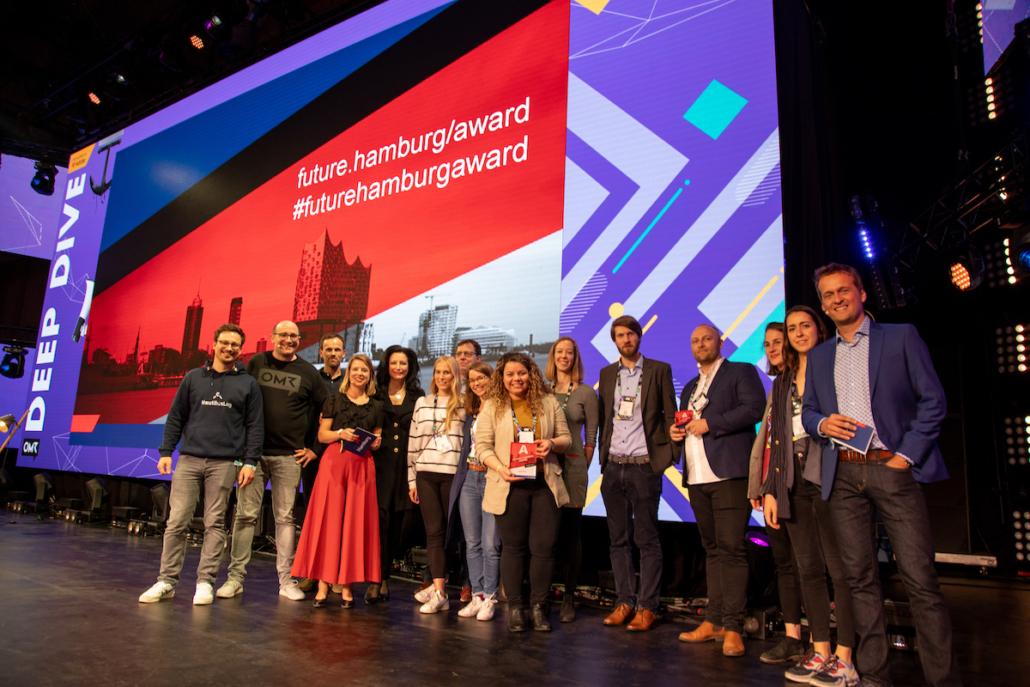 Die Siegerehrung des Future Hamburg Award 2019.