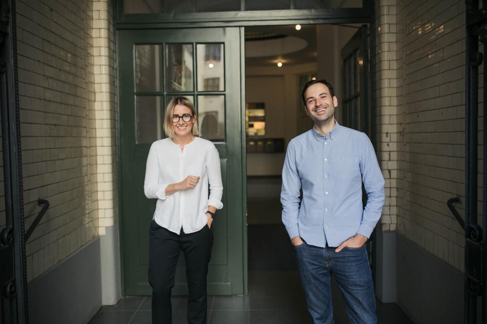 Varena Junge und Antoine Verger von Yook haben eine Förderung durch InnoFounder erhalten. (Foto: Yook)