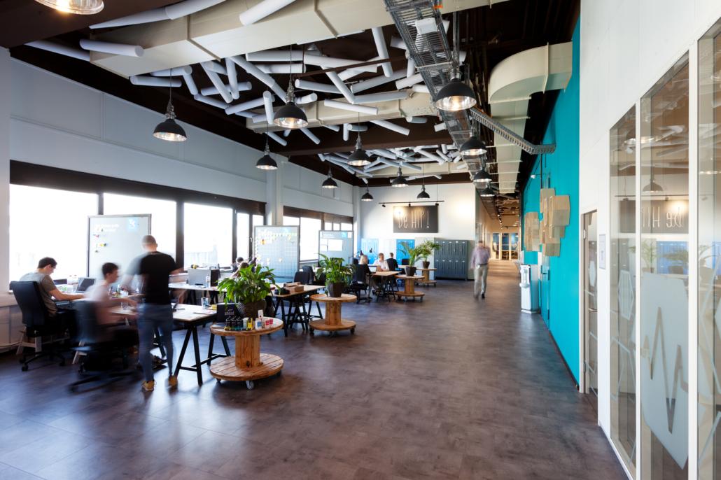 Offene Büroflächen prägen den HIP.