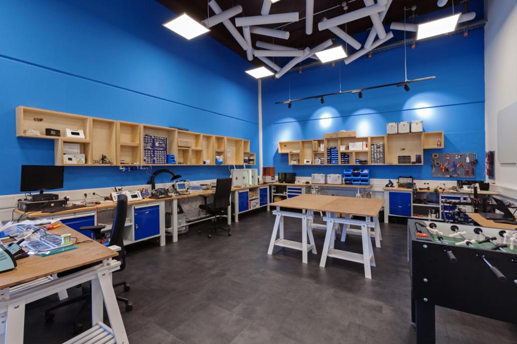 In dieser Werkstatt des HIP können Startups Prototypen entwickeln.
