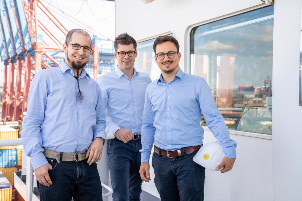 Die Gründer Sven Hamer, Moritz Klemke und Otto Klemke (Foto: NautilusLog)