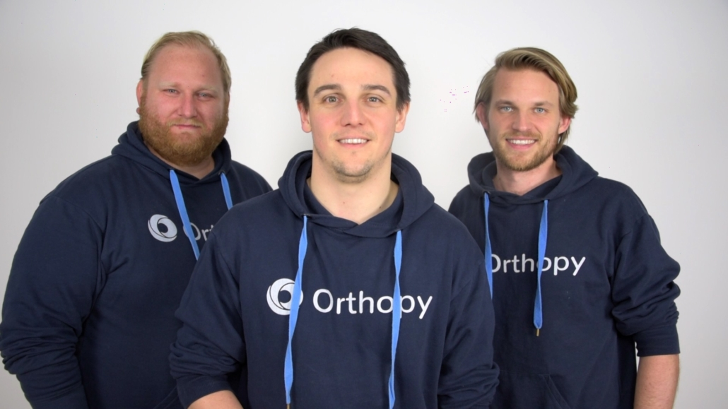 Die Gründer von Orthopy: Torben Weichaus, Maximilian Schilling und Lennart Dörwald.