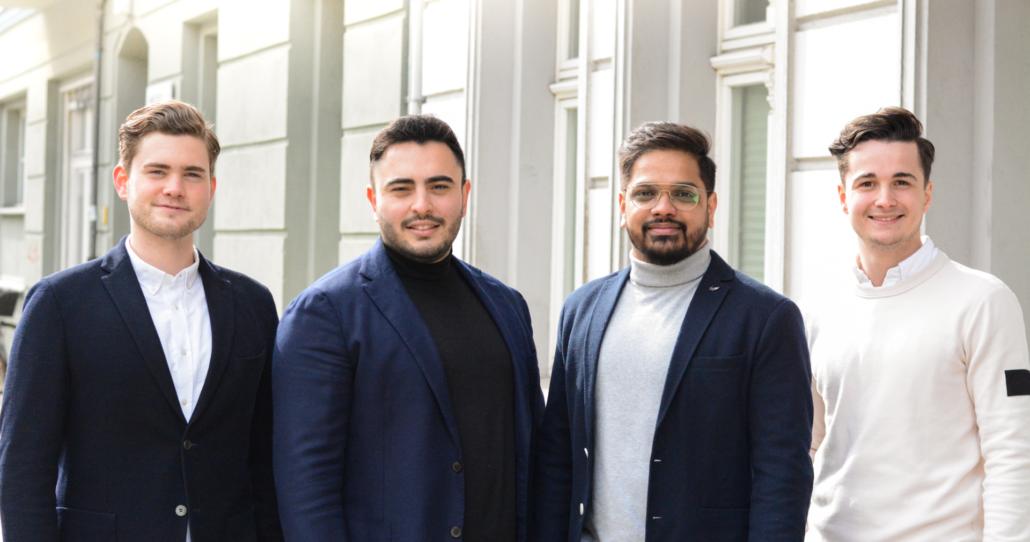 Neu beim NCA - Team CATHAGO: Emil Buxmann, Richard Göldner, Sharif Malik und Philipp Dressler (Foto: CATHAGO)
