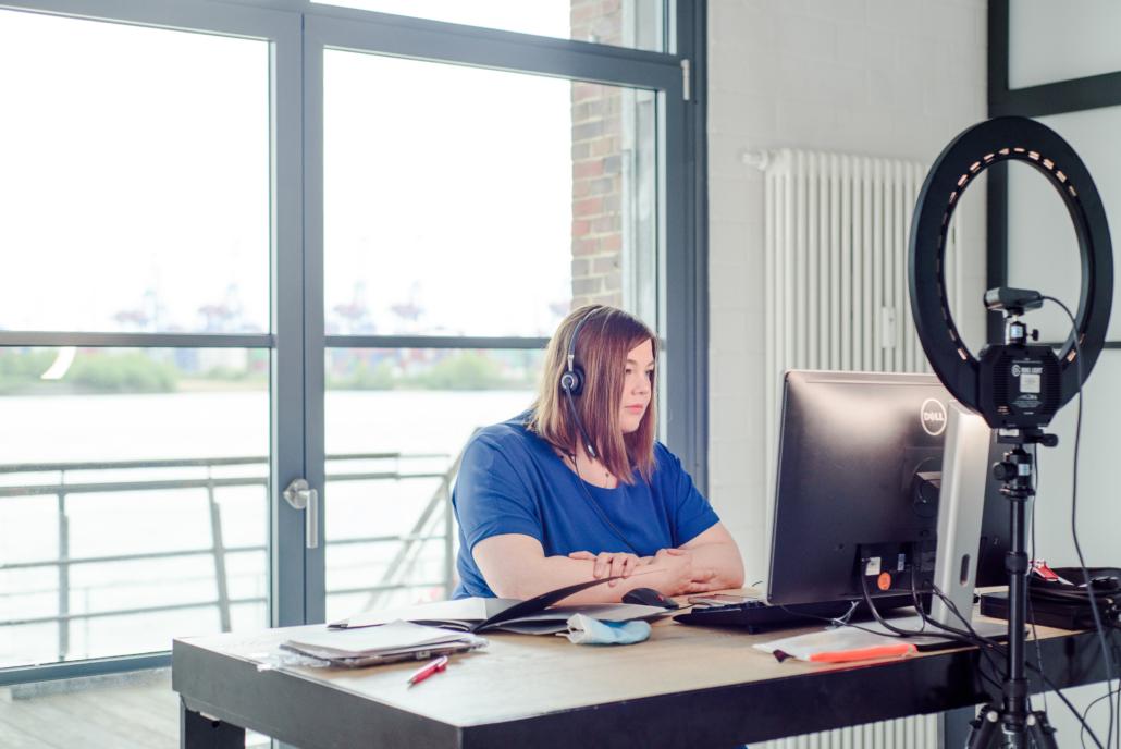 Wissenschaftsenatorin Katharina Fegebank bein HHIS 2021 (Foto: Anne Gaertner)