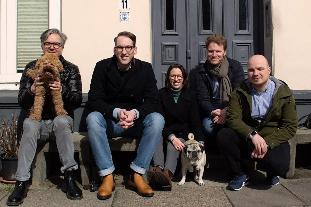Das Pet Quintett von Hyggins: Stephan Rebbe, Malte Ehlers, Tina Ehlers, Christopher Graf und Raitis Steinbergs.