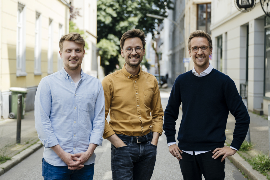 Benedikt Reinke, Julian Angern und Christian Angern sind die Gründer von Sympatient.