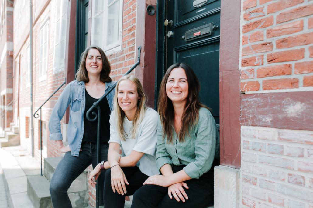 Die Gründerinnen Franziska Löw, Lisa Dahlke und Hanna Asmussen von Localyze