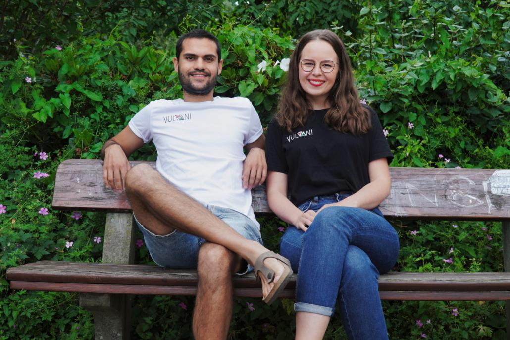 Das Gründerduo von Vulvani: Jamin Mahood und Britta Wiebe.