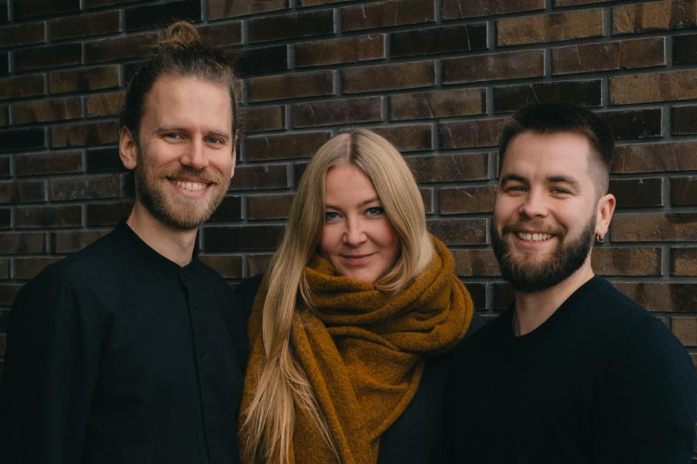 Das Trio von Gaia: Lucas Grunhold kümmert sich hauptsächlich um das Marketing, Karla Janssen um den Vertrieb und Paol Luzian Groß um die Produktion.
