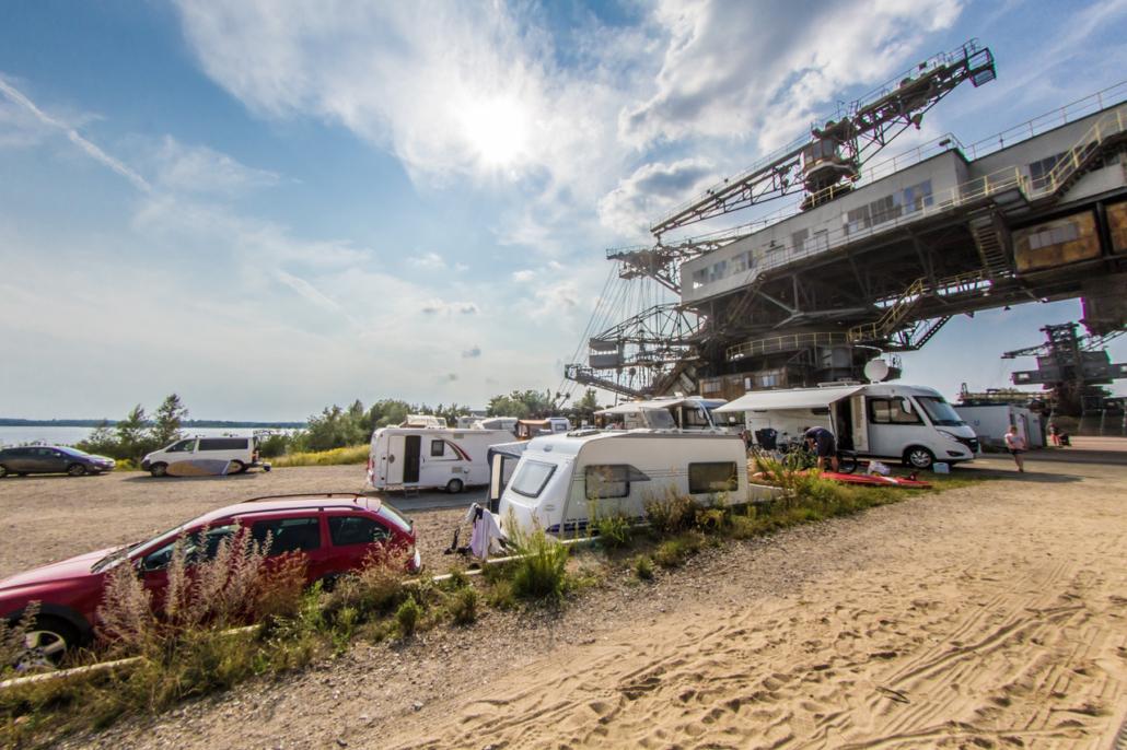 Ferropolis als Campingplatz (Foto: Tobias Abt)