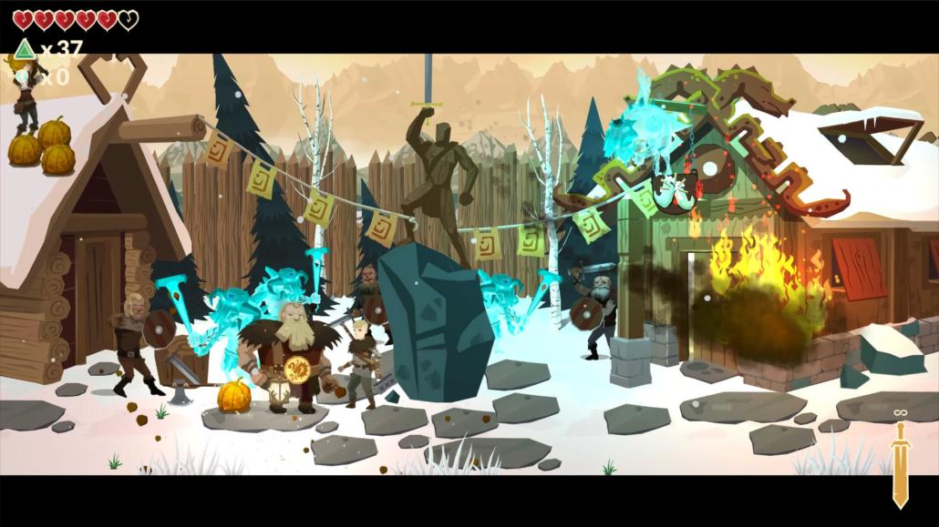 gamescon: Screenshot Leif's Adventure: Netherworld Hero von OneManOnMars