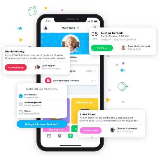 Mit der Kindy-App lässt sich kommunizieren und organisieren.