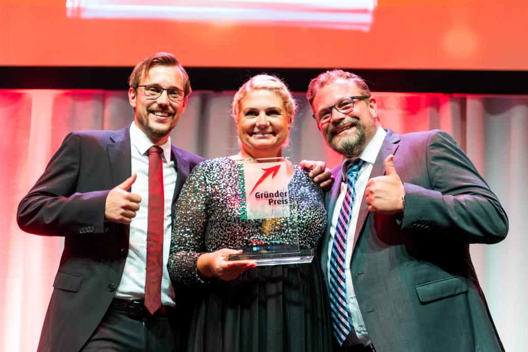 Anne Lemcke nahm den Hamburger Gründerpreis für Ankerkraut entgegen.