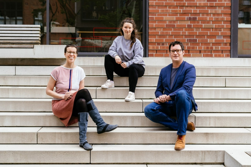 Das Team von Storydive: Sophie Burger, Lenja Busch und Fabian Eck ( Foto: Oliver Reetz )